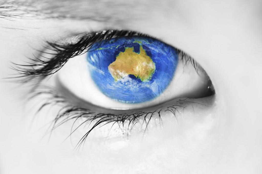 Australia in the eye